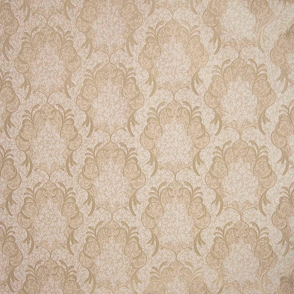 Papel de parede vin lico bege c textura de arabescos r - Papel adhesivo para paredes ...