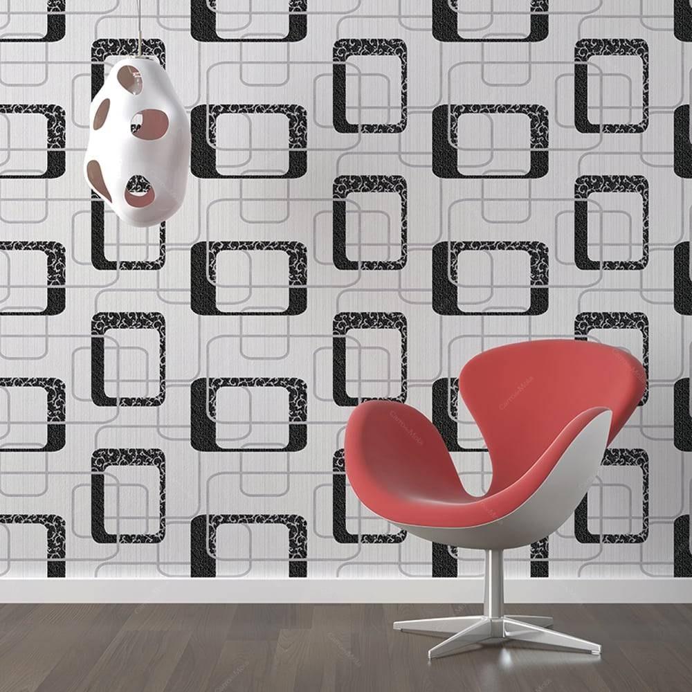 5f525e7b6 papel de parede vinílico lavável bege c  textura elos. Carregando zoom.