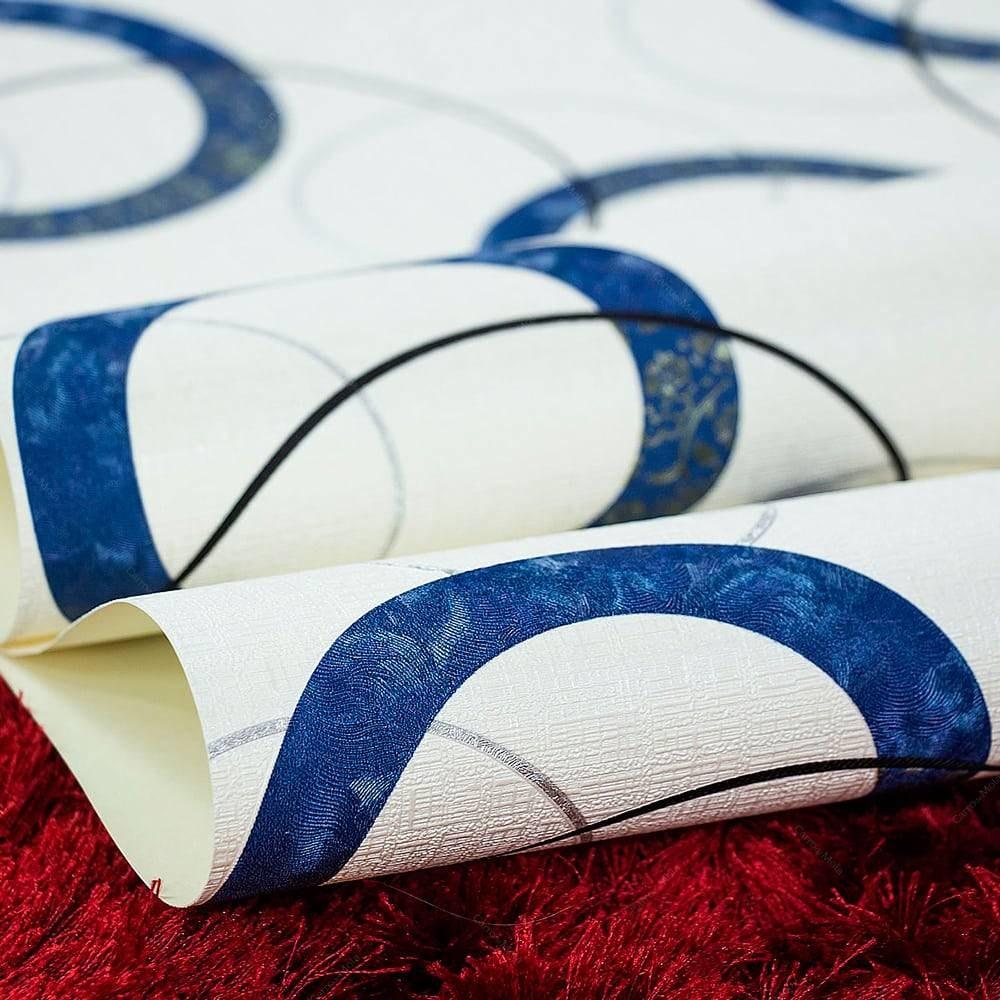 d3cc4a124 papel de parede vinílico lavável c  textura elo de círculos. Carregando zoom .