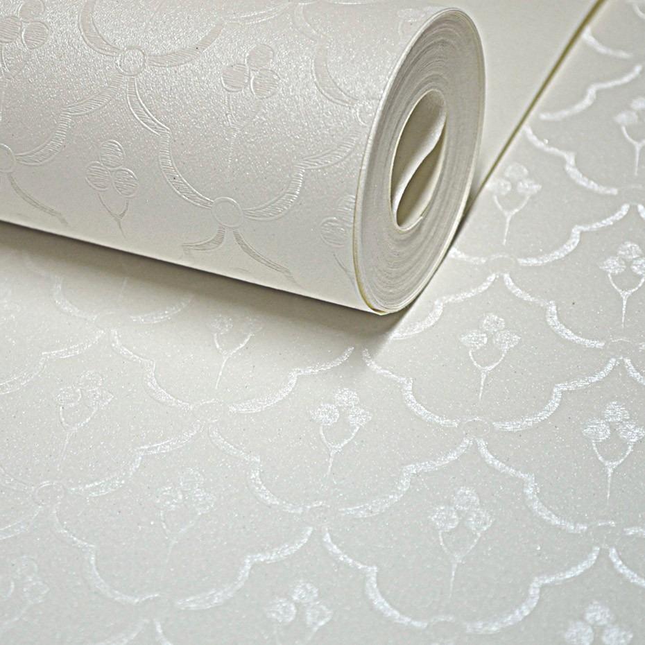 Papel de parede vin lico lav vel rolo 10m branco off white - Paredes de papel ...