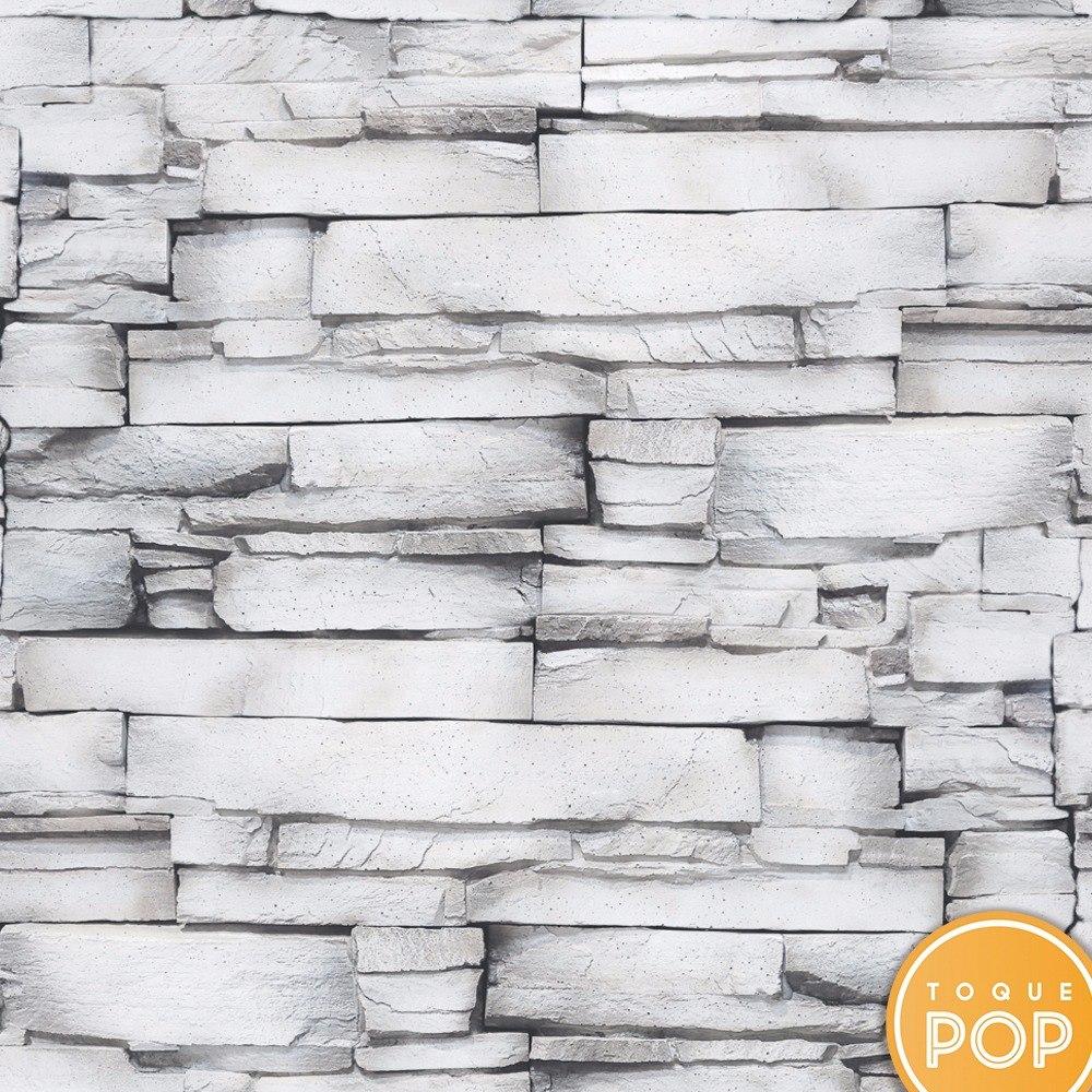 a51fd324d papel de parede vinílico pedra branca cinza canjiquinha 3d. Carregando zoom.