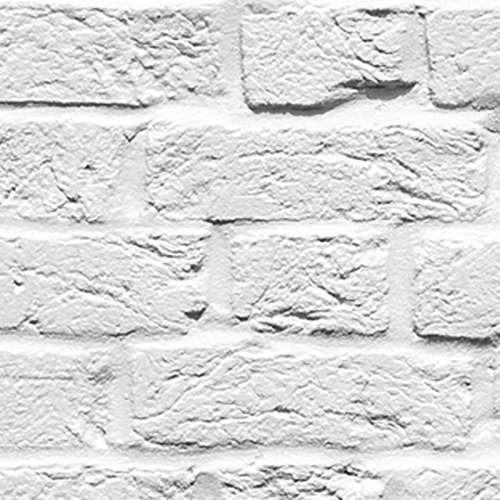 a2d8755b4 Papel De Parede Vinílico Tijolinho Branco 21 Peças - R  417