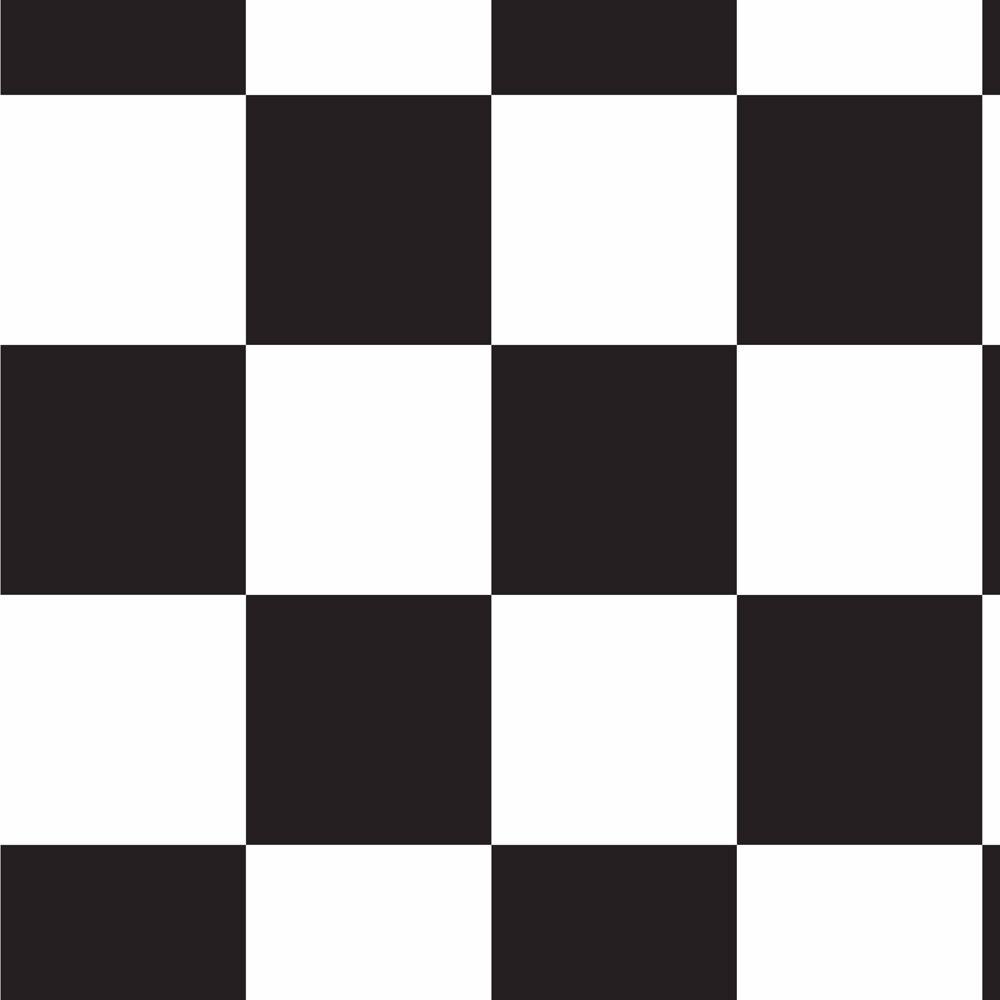 Papel De Parede Xadrez Branco Preto Lavavel 310x58cm R 43 90 Em