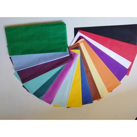 Papel De Seda (100 Pliegos) Colores Surtidos