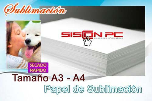 papel de sublimación  100 hojas a4 sublimar