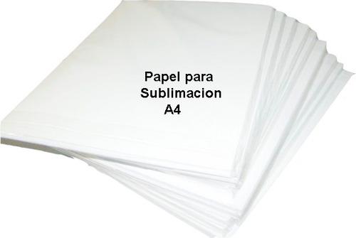 papel de sublimación 100 hojas a4 sublimar y disponemos  a3