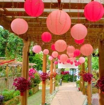 10 lamparas de papel china esfera p decoraci n y eventos - Decoracion de lamparas de papel ...