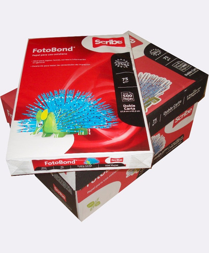 papel doble carta fotobond 90% 75g/m2 cja 5 paq c/ 500 h msi