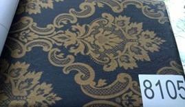 papel empapelar adhesivo lavable damasco azul oscuro beige