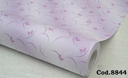 papel empapelar pvc lila mariposas lavable adhesivo 1x1.22cm