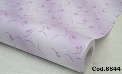 Papel empapelar pvc lila mariposas lavable adhesivo 1x1 for Papel pared lavable