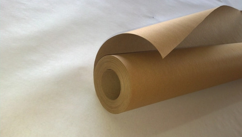 papel envoltura kraft rollo 1m. x 90 mts. calibre 125gr.