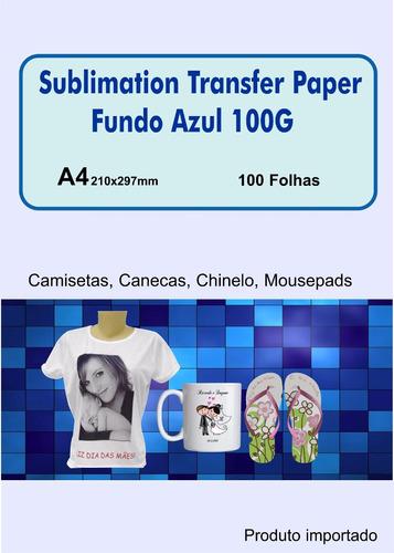 papel especifico sublimacao 100 folhas frete gratis