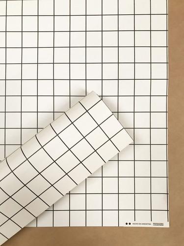 papel estampado scrapbooking encuadernación grilla crema