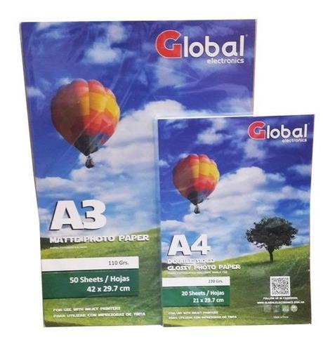 papel film a4 transparente acetato sticker 120 gr 100 h