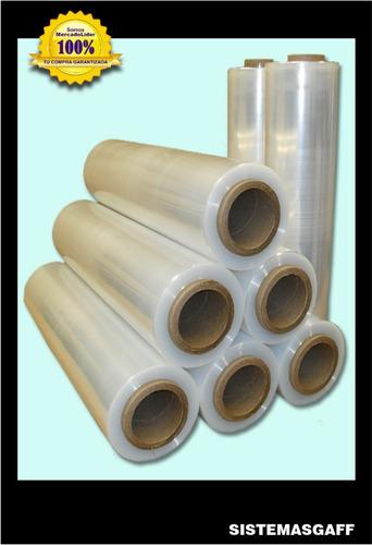 papel film stretch virgen cristal 50 cm embalaje x 6 rollos.