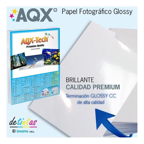 papel foto 200 hs a4 brillante glossy candy bar 200gr 200g
