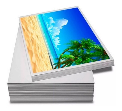 papel foto a4 glossy 180g 500fls + 130g 200fls adesivo