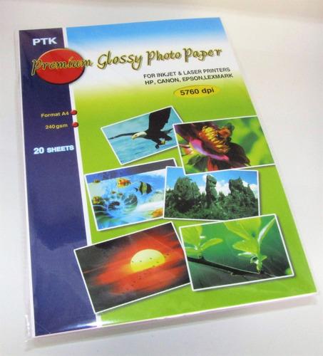 papel fotografico 240 gramos x 20 paquetes