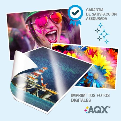 papel fotografico a4 180gr 100 hs brillante glossy resma
