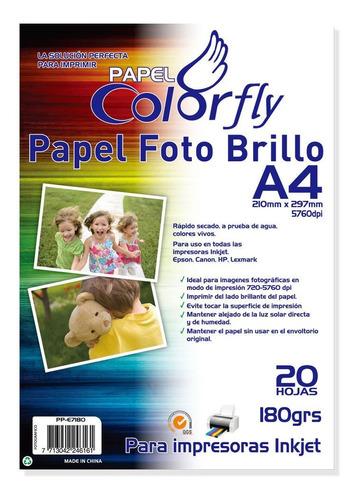 papel fotográfico a4 180gr 20 hojas 5 paquetes - disershop