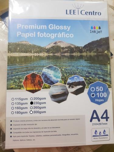 papel fotografico a4 230 gramos 100 hojas