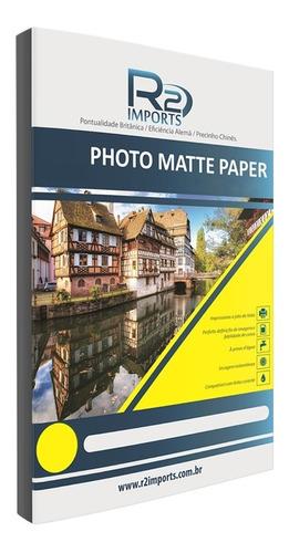 papel fotográfico a4 matte fosco 110g 100fls a prova d'água