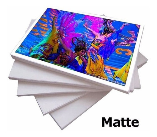 papel fotográfico a4 matte fosco 230g branco 500 folhas