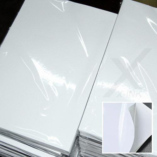 papel fotográfico adesivo 115g a4 à prova d´água 100 folhas