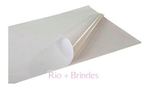 papel fotográfico adesivo glossy 115gr resistente 100 folhas