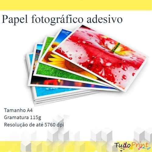 papel fotográfico adesivo glossy a4 prova d'água 1000 folhas