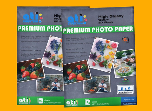 papel fotográfico ati 150 gramo para vaso doble fondo chapas