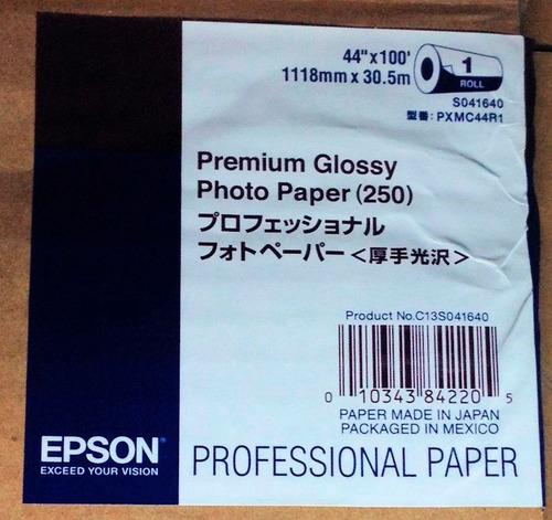 papel fotográfico bobina 16, 24  y 44 x 30,5 m epson plotter