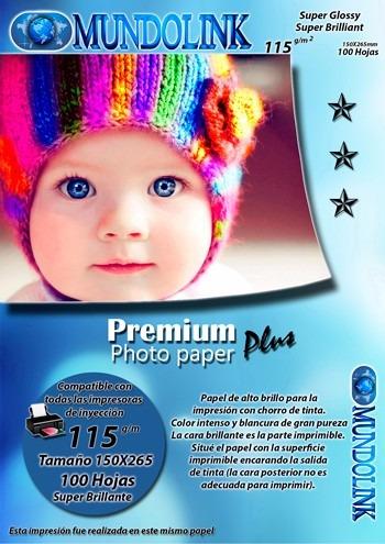 papel fotográfico brillante caratula blu ray tama 15x26.5 cm