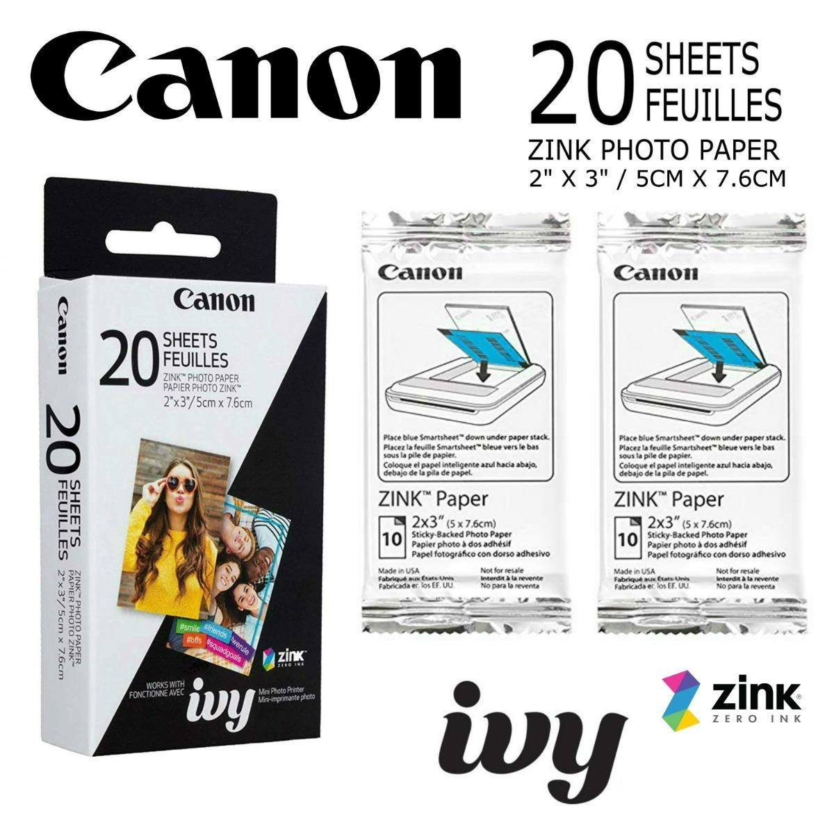 Canon zp-2030 20 hoja de papel de zinc