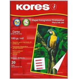 Papel Fotografico Carta 180g50h Kores