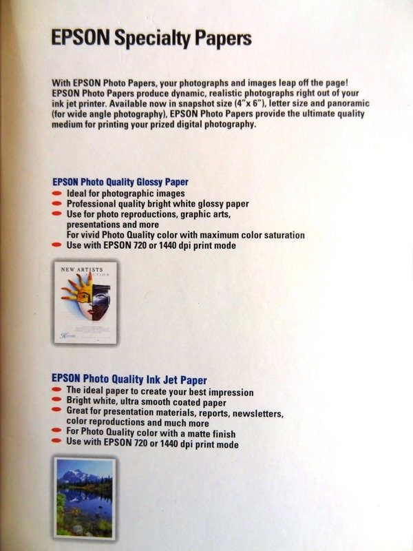 Papel Fotografico Color Alta Calidad A4 - Glossy Paper Epson