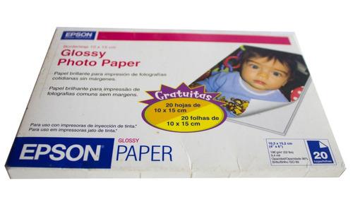 papel fotografico epson 10 x 15 (20 hojas)