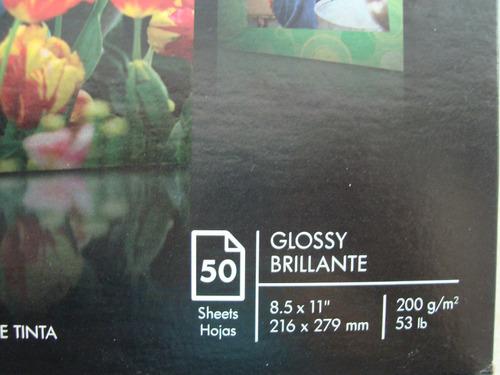 papel fotografico glossy brillante 8.5x11¨  a4 200g/m2