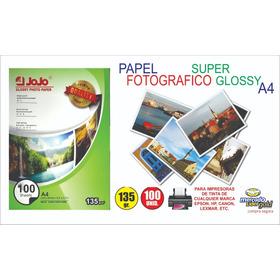 Papel Fotografico Jojo A4 135 Gr Super Glossy