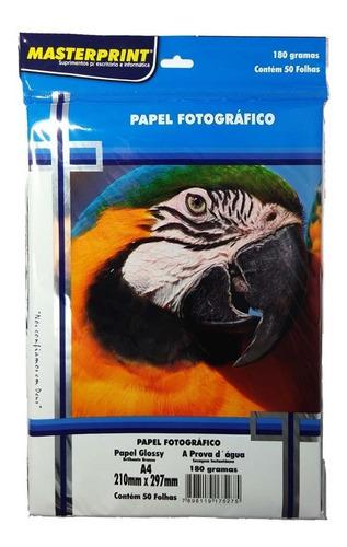 papel fotográfico masterprint adesivo + glossy 300 folhas