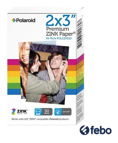 papel fotográfico para cámara instantánea zinc pack x50 febo