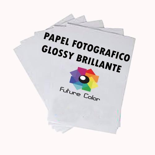 papel fotográfico premium glossy 8.5*11 carta 230gr 20 hojas