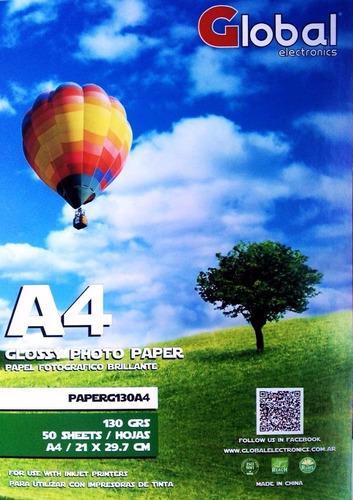 papel global film a4 transparente acetato sticker 120gr x100