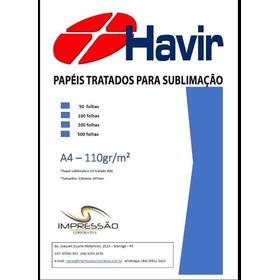 Papel Havir Sublimático R90 100fls A4 Fundo Azul
