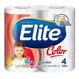Papel Higiénico Elite Color 4 Rollos De 287 Hojas Dobles