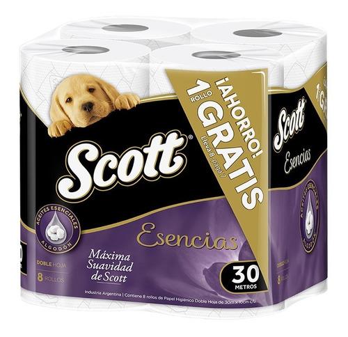 papel higienico scott esencias pack ahorro 30 mts x 8 rollos