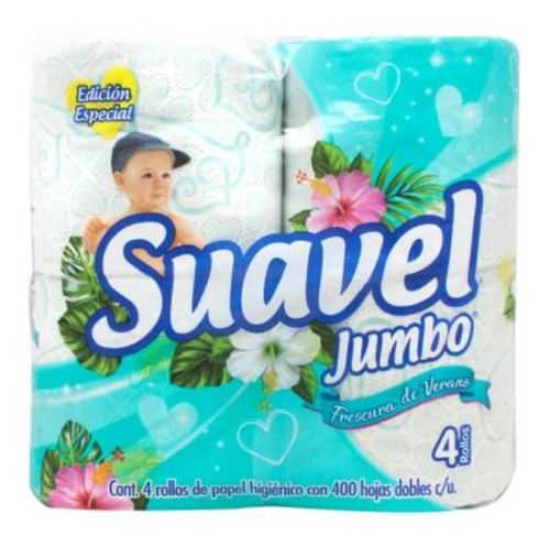 papel higiénico suavel jumbo 4 pzas