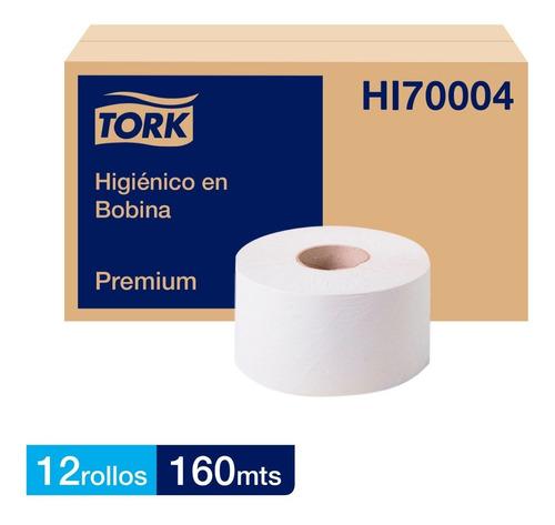 papel higiénico tork jumbo bobina premium 12 rollos de 160m.