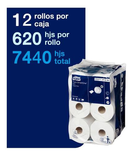 papel higiénico tork smartone® mini 12 rollos de 620 hojas